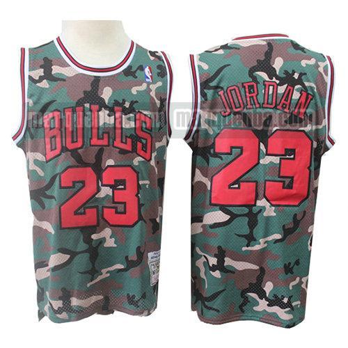 BXWA-Sports Maillots de Basketball Bulls # 23 Maillot de Sport de Camouflage dans la Jungle Unisexe Respirant Broderie r/ésistante /à lusure Basketball Uniform Fitness Gilet,L 180cm//75~85kg